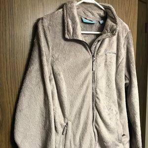 Free country NWT soft furry zip up